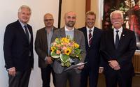 Erasmus Prize Winner with congratulators
