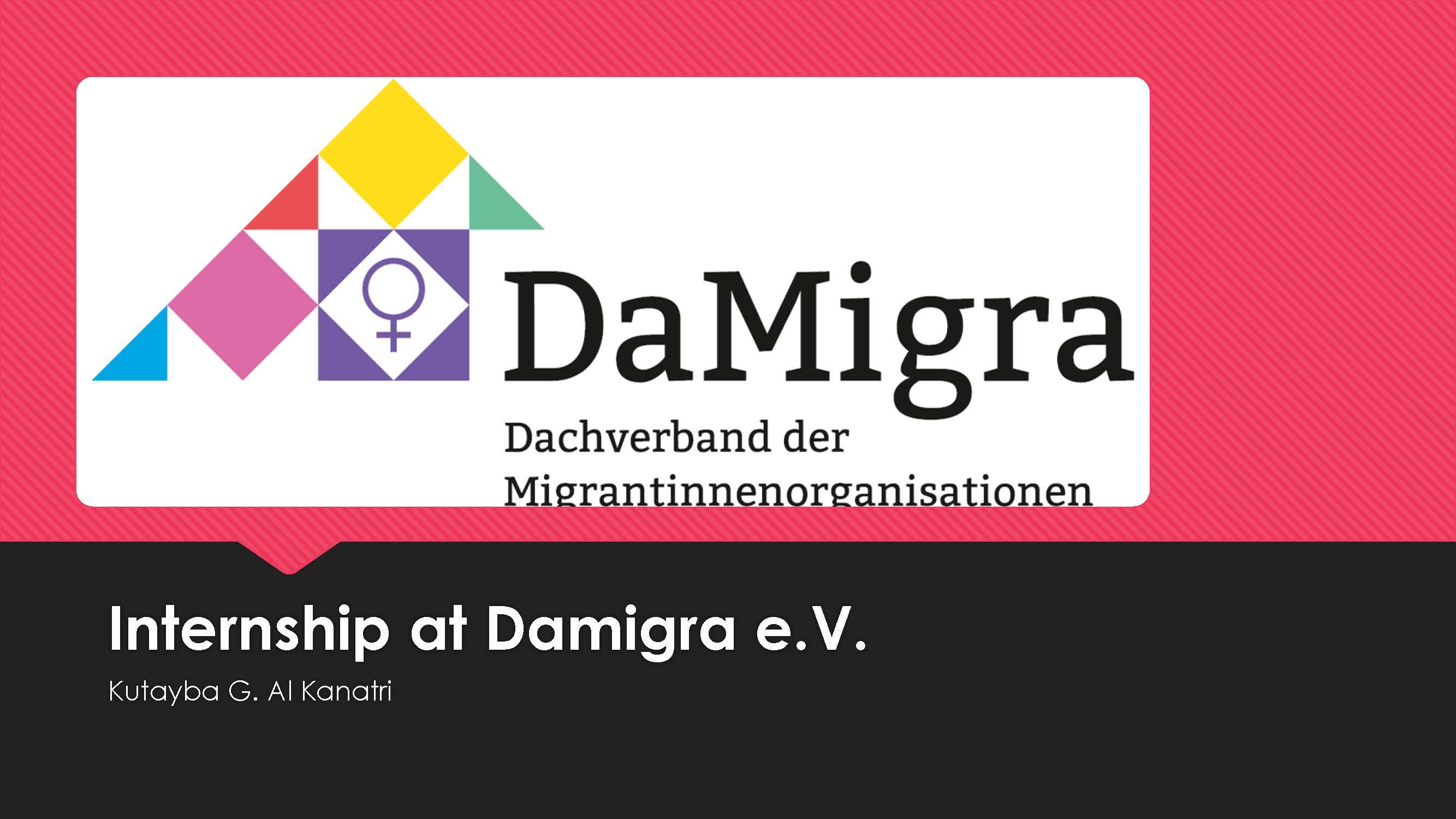 Al Kanatri - Internship at DaMigra 2019