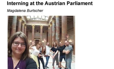 M. Burtscher – Interning at the Austrian Parliament