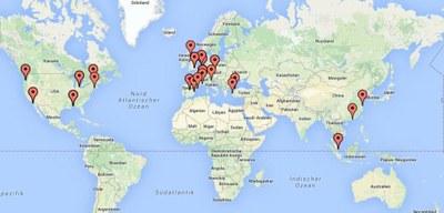 Study Abroad Map 2014-15