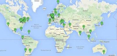 Study Abroad Map 2015-16