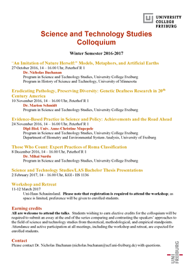 STS Colloquium WS 2016-17