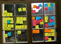 DT Workshop Window with post its