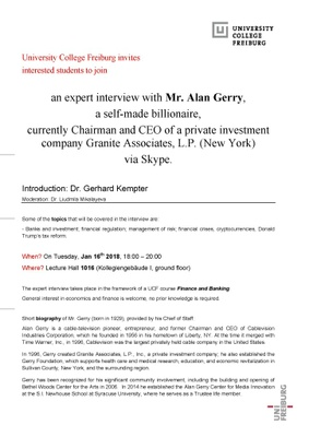 Expert Interview Alan Gerry