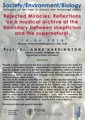 Lecture Prof. Anne Harrington