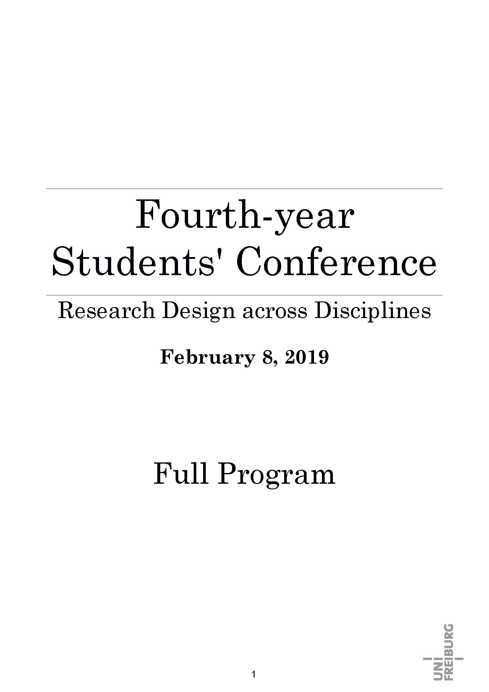 Programm Research across Disciplines