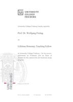 UCF Urkunde Prof. Freitag