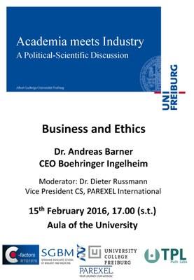 Academia meets Industry Barner