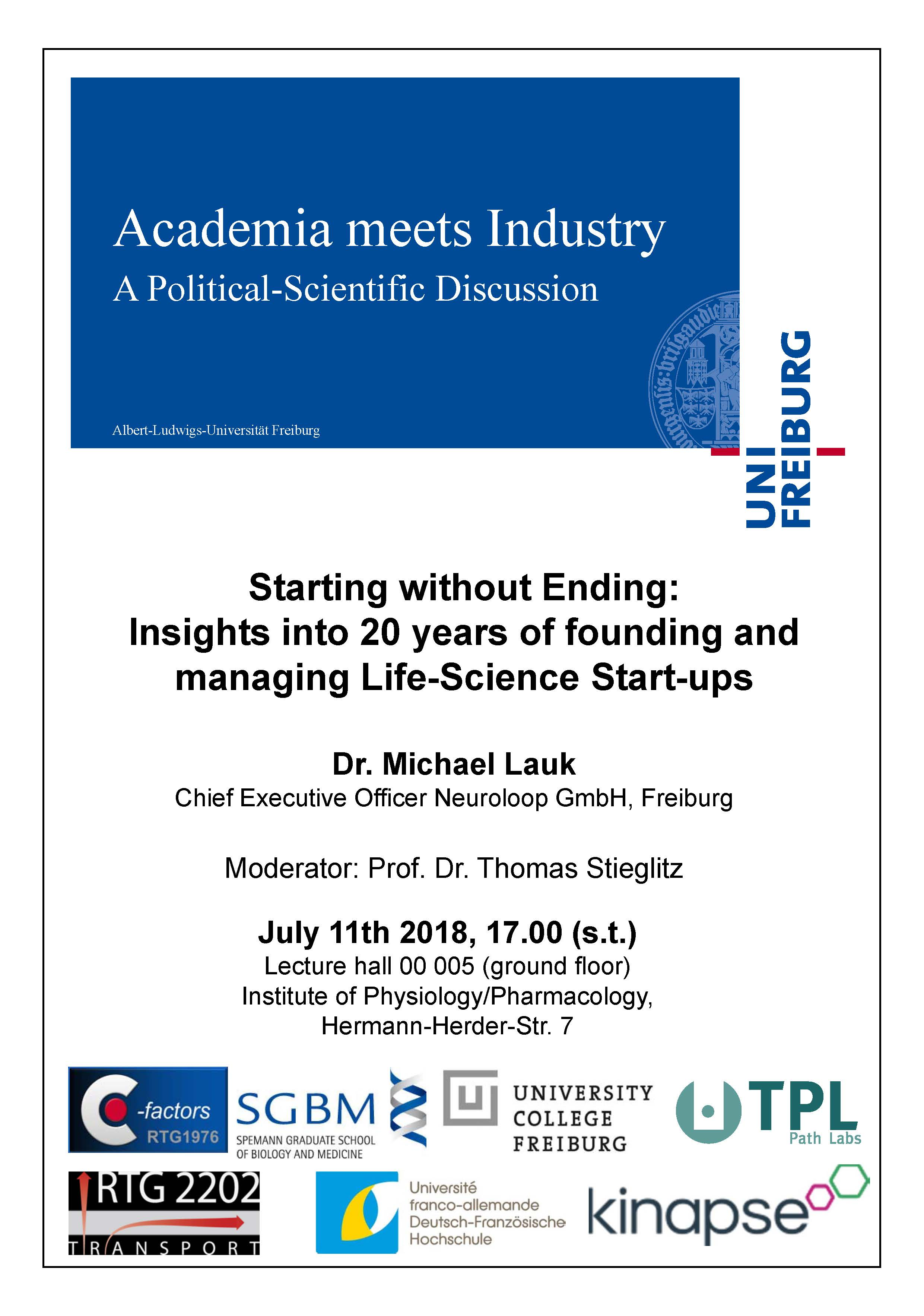 Academia meets Industry Dr. Lauk